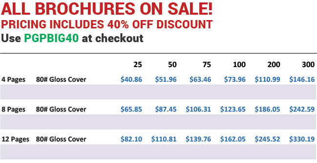 Home Tour Brochure Pricing from Plum Grove Printers